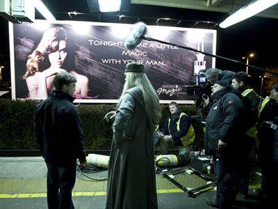『ハリー・ポッターと謎のプリンス』撮影中の風景