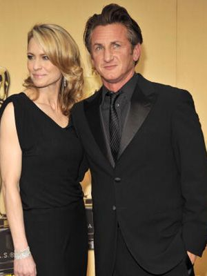 まだ夫婦だったころのロビン・ライト・ペンとショーン・ペン、お似合いのカップルでした。