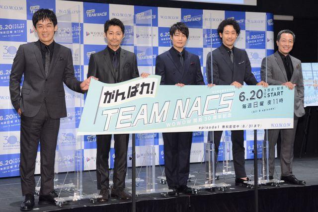 (左から)森崎博之、安田顕、戸次重幸、大泉洋、音尾琢真