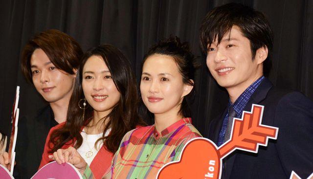 『美人が婚活してみたら』初日に登壇した中村倫也、黒川芽以、臼田あさ美、田中圭