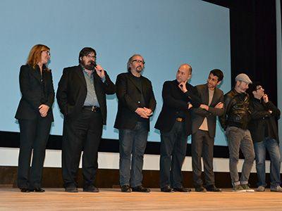イタリア映画祭2013開幕!(左より)カルロッタ・クリスティアーニ、ジュゼッペ・バッティストン、ジュゼッペ・ピッチョーニ監督、フェルザン・オズペテク監督、エドアルド・ガッブリエッリーニ監督、イヴァーノ・デ・マッテオ監督、ダニエーレ・チプリ監督