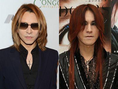 (左)YOSHIKI (右)SUGIZO