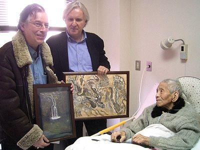 左からチャールズ・ペレグリーノ氏、ジェームズ・キャメロン監督、山口彊氏