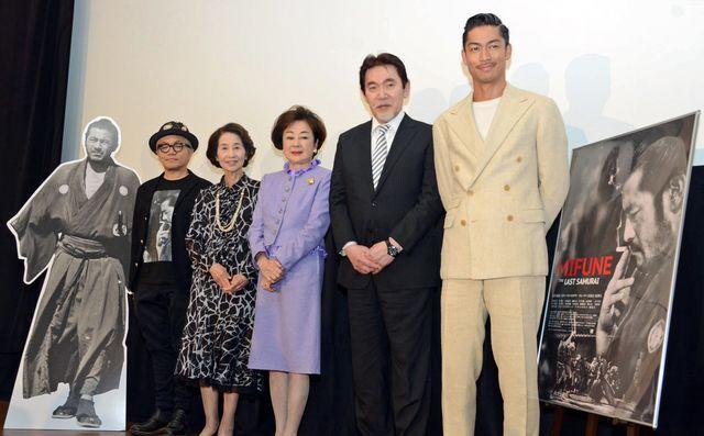 三船敏郎さんの豪快なエピソードを語り合った水道橋博士、香川京子、司葉子、三船史郎、AKIRA