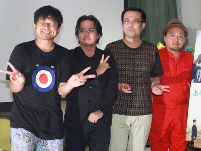 「ナカメキノ」に登場した(左から)大谷ノブ彦(ダイノジ)、松崎健夫、松崎まこと、マキタスポーツ