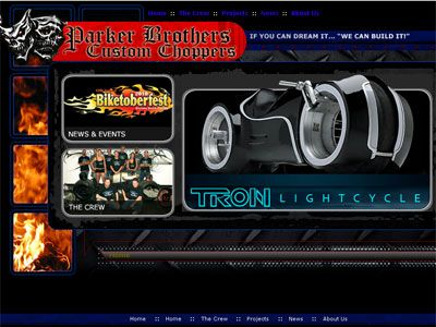こちらは「パーカー・ブラザーズ・チョッパーズ」オフィシャルサイトのスクリーンショット
