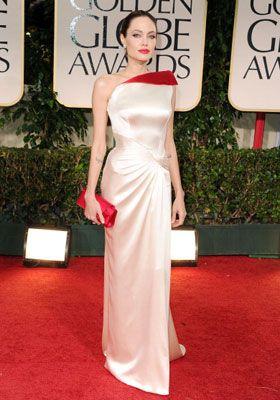 今年のゴールデン・グローブ賞授賞式のアンジェリーナ・ジョリー - どんな衣装で登場するかにも注目です!
