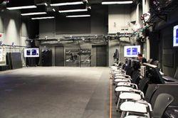 モーションキャプチャーの撮影スタジオ