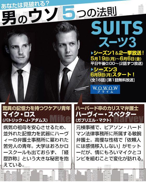 「SUITS/スーツ」特集:あなたは見破れる?男のウソ5つの法則