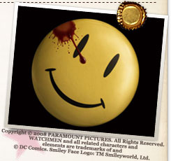『ウォッチメン』Copyright (C) 2008 PARAMOUNT PICTURES. All Rights Reserved. WATCHMEN and all related characters and elements are trademarks of and  (C) DC Comics. Smiley Face Logo: TM Smileyworld, Ltd.