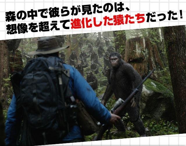 森の中で彼らが見たのは、想像を超えて進化した猿たちだった!
