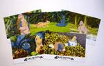 映画『おまえうまそうだな』ミニかみしばい型ポストカード(5枚組)