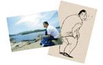 映画『捨てがたき人々』オリジナルポストカード(2種)