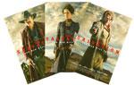 映画『悪党に粛清を』マッツ・ミケルセン、エヴァ・グリーン、ジェフリー・ディーン・モーガンの海外版キャラクターポスターをデザインしたポストカード(非売品)