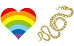 """映画『虹蛇と眠る女』""""幸福を呼ぶ守り神""""虹蛇タトゥーシール(「金色ヘビ」又は「虹ハート」の2種よりどちらかお選びください)"""