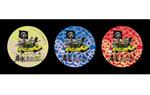 映画『オールディックフォギー 歯車にまどわされて』非売品缶バッヂ(黄色:シネマート新宿限定、赤色:ディスクユニオン限定、青色:そのほかの劇場)
